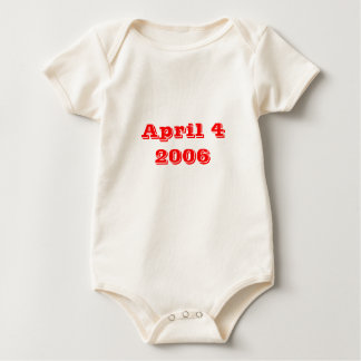 April 4 2006 baby bodysuit