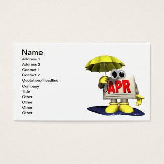 April 5 business card