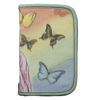 April and her butterflies folio planner