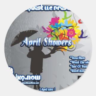 April - April Showers Classic Round Sticker