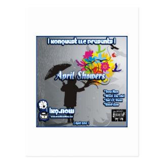 April - April Showers Postcard