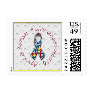 April - Autism Awareness Month Postage