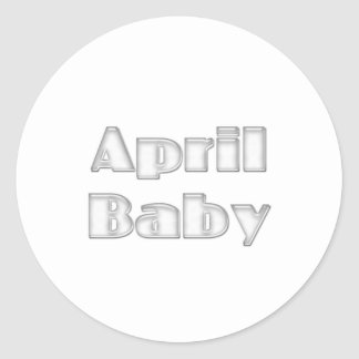 April Baby Round Stickers