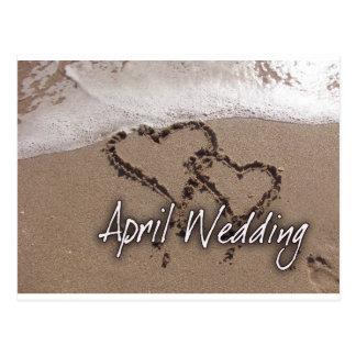 April Beach Destination Weddin...... - Customized Postcard