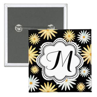 April Birth Flower - Curvy Daisy Pattern Button