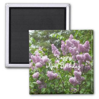 April Birthday-Lilac Bush Magnet