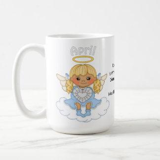 April Birthstone Angel Blonde Coffee Mug