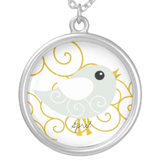 April Birthstone Bird Necklace