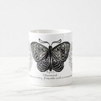 April Birthstone Butterfly Mug
