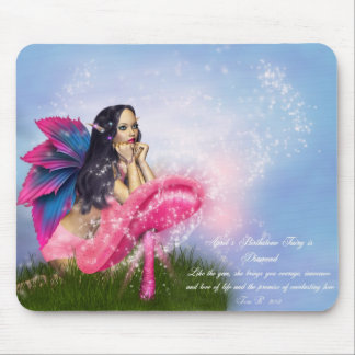April Birthstone Fairy Mouse Pad