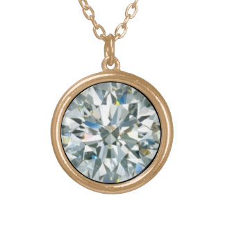 April Birthstone - The Invincible Diamond - Gold Plated Necklace