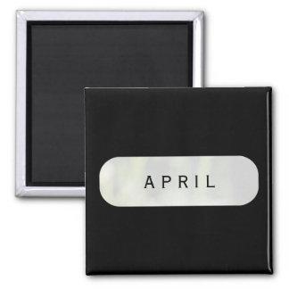 April Black Square Magnet by Janz