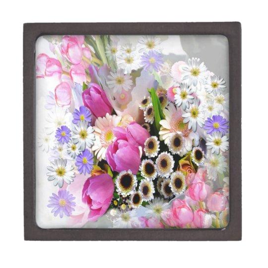 April Bouquet Jewelry Box