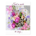 April Bouquet Postcard