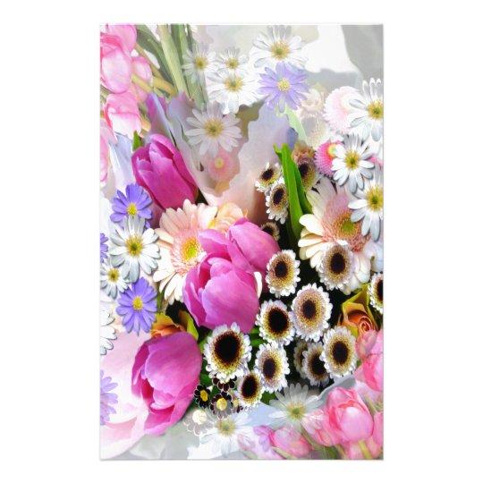 April Bouquet Stationery