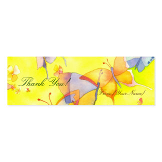 April Butterflies: Thank You Gift Tag/Bookmark Double-Sided Mini Business Cards (Pack Of 20)