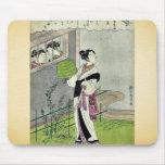 April by Suzuki, Harunobu Ukiyoe Mouse Pad