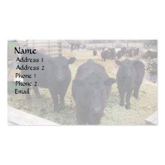 April Cattle Business Card