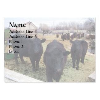 April Cattle Large Business Card