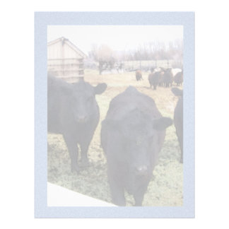 April Cattle Personalized Letterhead