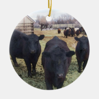 April Cattle Christmas Tree Ornaments