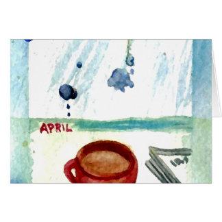 April Coffee - Months & Seasons Coffee Art Series Card