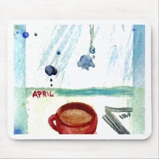 April Coffee - Months Seasons Coffee Art Series Mouse Pad