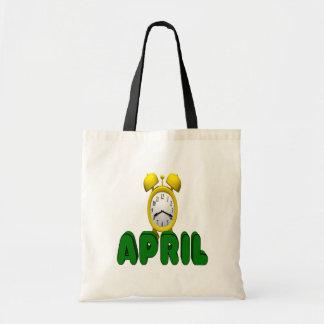 April Countdown Canvas Bags