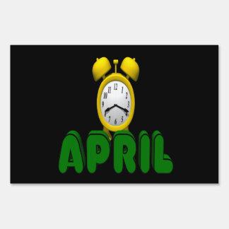 April Countdown Lawn Signs