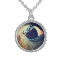 April Eye Sterling Silver Necklace