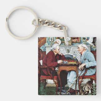 April Fool, 1943 Double-Sided Square Acrylic Keychain
