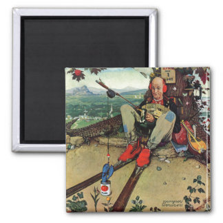 April Fool, 1945 2 Inch Square Magnet