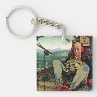 April Fool, 1945 Double-Sided Square Acrylic Keychain