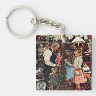 April Fool, 1948 Double-Sided Square Acrylic Keychain