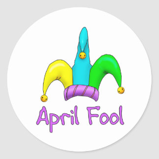 April Fool Classic Round Sticker