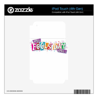April fool day decal for iPod touch 4G