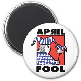 April Fool Joker 2 Inch Round Magnet