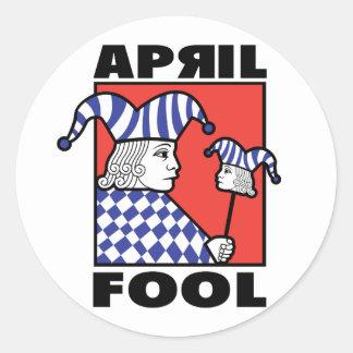 April Fool Joker Classic Round Sticker