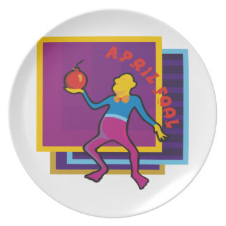 April Fool Party Plate