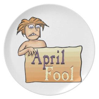April Fool Party Plates