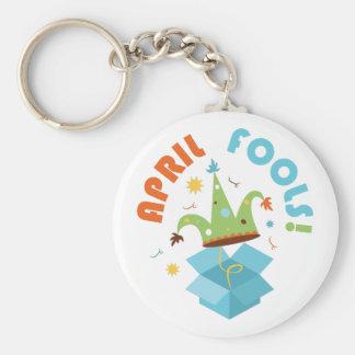 April Fools Basic Round Button Keychain