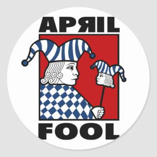 April Fools Classic Round Sticker
