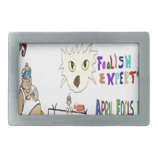 April Fools Day ADD YOUR TEXT Belt Buckles