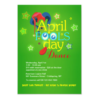 April Fool's Day Dance Invitation