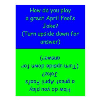 April Fool's Day Humorous Card Post Card