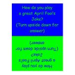 April Fool's Day Humorous Card Postcard