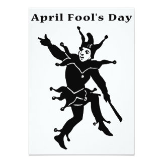 April Fools' Day 5x7 Paper Invitation Card