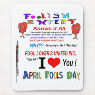 April Fools Day Mouse Pad