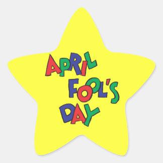 April Fools Day Star Sticker