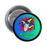April Fool's Jester 2 Inch Round Button